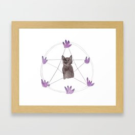 How May I Haunt You? Framed Art Print