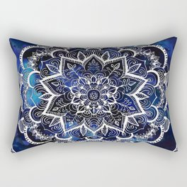 Queen Starring of Mandalas Navy Rectangular Pillow