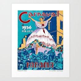 Vintage poster - Panama Art Print