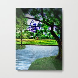 Condo Beyond the Park Metal Print
