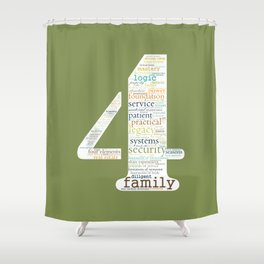 Life Path 4 (color background) Shower Curtain