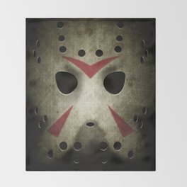 Slasher Hockey Mask Throw Blanket