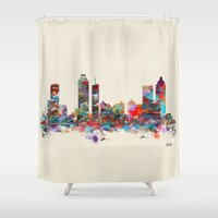 atlanta Shower Curtains featuring Atlanta Georgia  by bri.buckley