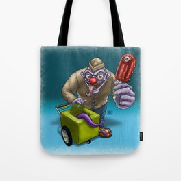 That weird guy by the corner... Tote Bag