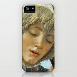Sandro Botticelli - Angels 1. detail iPhone Case