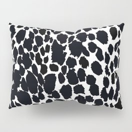 Animal Print Cheetah Black and White Pattern #4 Pillow Sham