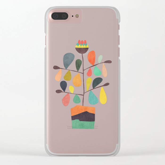 Potted Plant 4 Clear iPhone Case