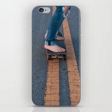Barefoot Skateboard iPhone & iPod Skin