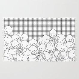 Cherry Blossom Grid - In Memory of Mackenzie Rug