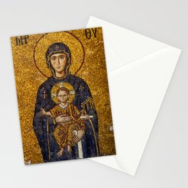 Mosaic Mary and Jesus Stationery Cards