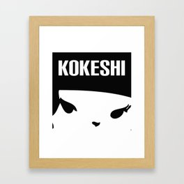 Kokeshi Logo Square Design Framed Art Print