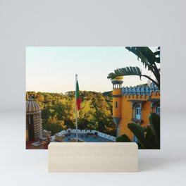 Sunset at the Pena Palace in Portugal Mini Art Print