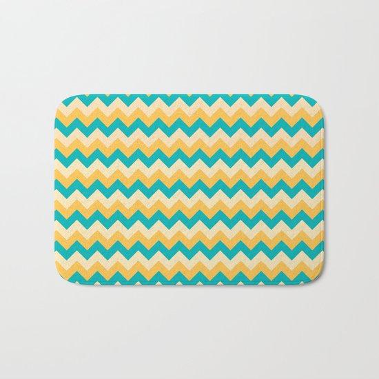 Colorful Chevron Pattern Bath Mat
