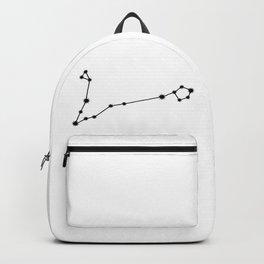 Pisces Star Sign Black & White Backpack