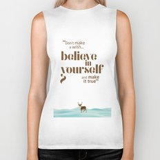 Believe in yourself Biker Tank
