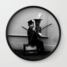 Tuba Fire Wall Clock