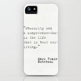 Mark Twain Notebook iPhone Case