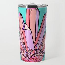 Crystal Cluster- Pink & Mint Travel Mug