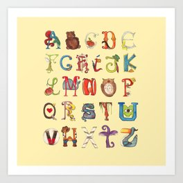 ABC Alphabet Art Print