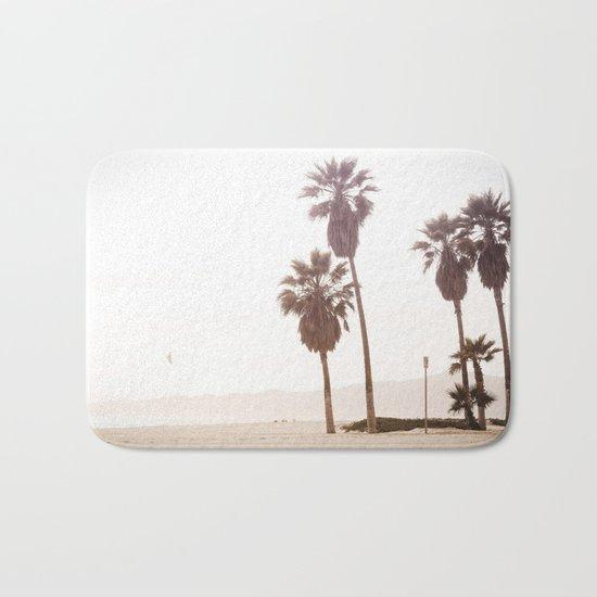 Vintage Summer Palm Trees Bath Mat