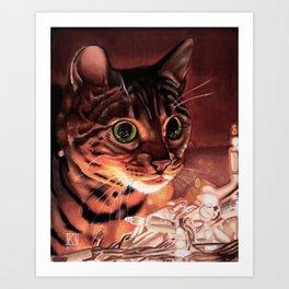 The Illuminated Feline Art Print