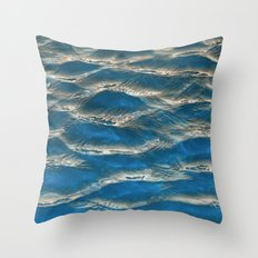 Aqua - blue abstract Throw Pillow