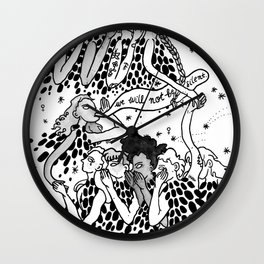 Not Be Silent Wall Clock