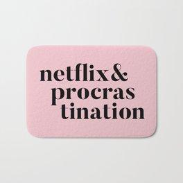 netflix and procrastination (new version) Bath Mat