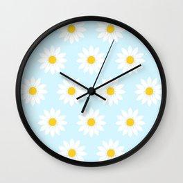 Daisy Blue Wall Clock