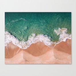 Pearl Beach top down. Canvas Print