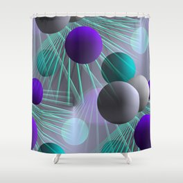 funny balls -03- Shower Curtain