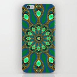 Fractal jewel mandala iPhone Skin