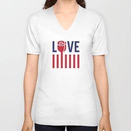 Love not hate Unisex V-Neck