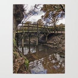 Pooh Bridge In Autumn Poster