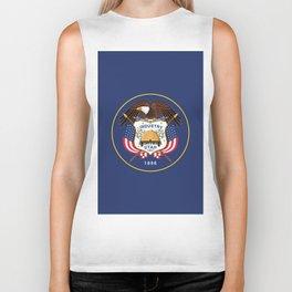 Utah State Flag Biker Tank