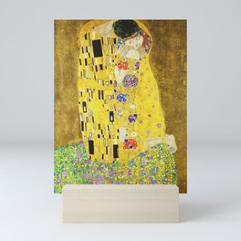 "''The Kiss"" Gustav Klimt Mini Art Print"