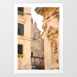 Terrace in Old Town Europe #decor #society6 Art Print