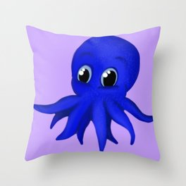 Octobaby Purple Throw Pillow