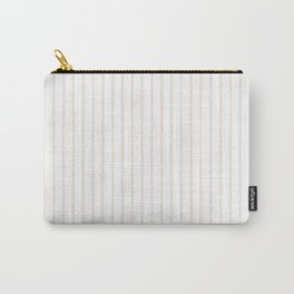 Classic Cream Pin Stripes on White Carry-All Pouch