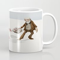 evolution Mugs featuring Evolution by Lee Grace Design and Illustration