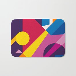 Abstract modern geometric background. Composition 6 Bath Mat