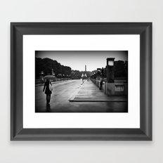 Vigeland Park in the Rain Framed Art Print