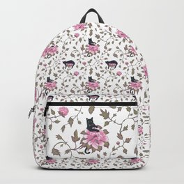 Cats on a flower matrix Backpack