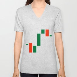 Day Trader Cryptocurrency Trading Candles   Product Unisex V-Neck