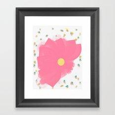 Floral Drops Framed Art Print