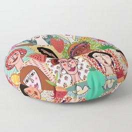 the colors of women Floor Pillow