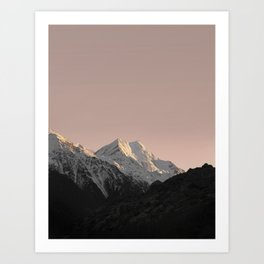 Mountain Series - Mount Cook Art Print