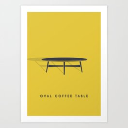 Oval Coffee Table Art Print