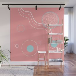 abstract planets Wall Mural