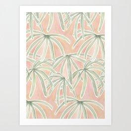 Boho Palms Art Print